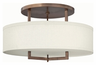 Hinkley 3211BR-LED Hampton Brushed Bronze Finish 26  Wide LED Ceiling Light Fixture