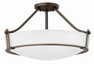 Hinkley 3221OB-WH Hathaway Olde Bronze Ceiling Light Fixture
