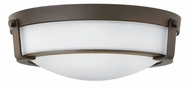 Hinkley 3225OB-WH Hathaway Olde Bronze Flush Mount Lighting Fixture