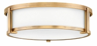 Hinkley 3243BR Lowell Modern Brushed Bronze 16  Flush Mount Light Fixture