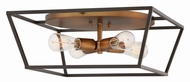 Hinkley 3331BZ Fulton Modern Bronze Flush Ceiling Light Fixture