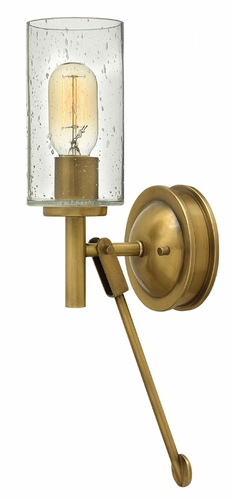 Hinkley 3380HB Collier Retro Heritage Brass Wall Sconce - HIN-3380HB