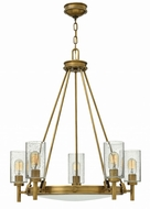 Hinkley 3385HB Collier Retro Heritage Brass Ceiling Chandelier