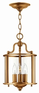 Hinkley 3470HR Gentry Heirloom Brass Foyer Lighting Fixture