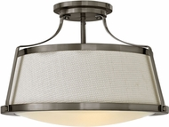 Hinkley 3522AN Charlotte Modern Antique Nickel Ceiling Light Fixture