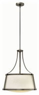 Hinkley 3524AN Charlotte Antique Nickel Finish 24  Tall Hanging Light
