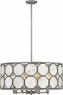 Hinkley 3566BV Lara Modern Brushed Silver 26.25  Drum Pendant Light