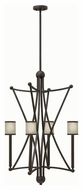Hinkley 3634OZSH Stella Contemporary Oil Rubbed Bronze Finish 22.25  Wide Mini Ceiling Chandelier