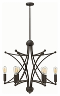 Hinkley 3636OZ Stella Modern Oil Rubbed Bronze Finish 31.75  Tall Hanging Chandelier