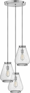 Hinkley 3686CM Finley Modern Chrome Multi Ceiling Pendant Light