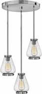 Hinkley 3688CM Finley Contemporary Chrome Multi Pendant Lighting