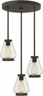 Hinkley 3688OZ Finley Modern Oil Rubbed Bronze Multi Pendant Light