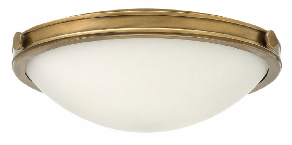 Led Ceiling Lights Brass : Hinkley hb maxwell heritage brass flush ceiling light