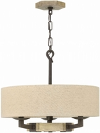 Hinkley 3913IR Wyatt Iron Rust Drum Ceiling Light Pendant