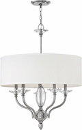 Hinkley 4005PN Surrey Polished Nickel Drum Hanging Light Fixture