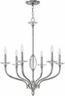 Hinkley 4006PN Surrey Polished Nickel Chandelier Light