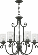 Hinkley 4015OL-CL Casa Olde Black Hanging Chandelier