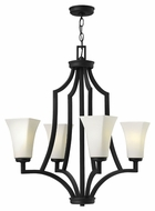 Hinkley 4194TB Spencer Small 4 Lamp Textured Black Transitional Style Hanging Chandelier
