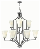 Hinkley 4198BN Spencer Brushed Nickel Finish 34.5  Tall Chandelier Lamp