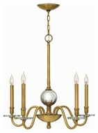 Hinkley 4205HB Everly Heritage Brass Finish 28  Wide Chandelier Light