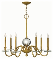Hinkley 4206HB Everly Heritage Brass Finish 33.75  Wide Hanging Chandelier