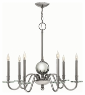Hinkley 4206PN Everly Polished Nickel Finish 29  Tall Chandelier Light
