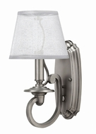 Hinkley 4240PL Plymouth Polished Antique Nickel Wall Light Fixture