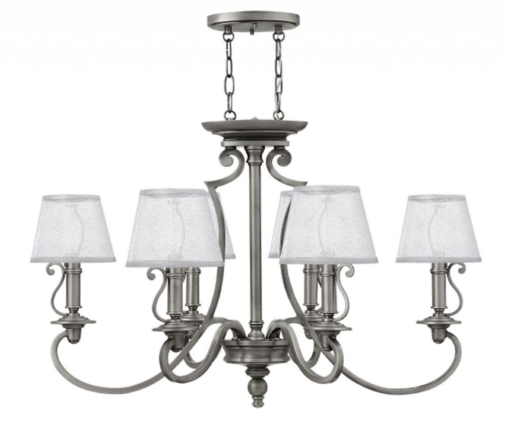 Hinkley 4245PL Plymouth Polished Antique Nickel Chandelier Light. Loading  zoom - Hinkley 4245PL Plymouth Polished Antique Nickel Chandelier Light