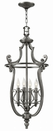 Hinkley 4254PL Plymouth Polished Antique Nickel Foyer Light Fixture