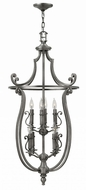 Hinkley 4258PL Plymouth Polished Antique Nickel Foyer Lighting Fixture