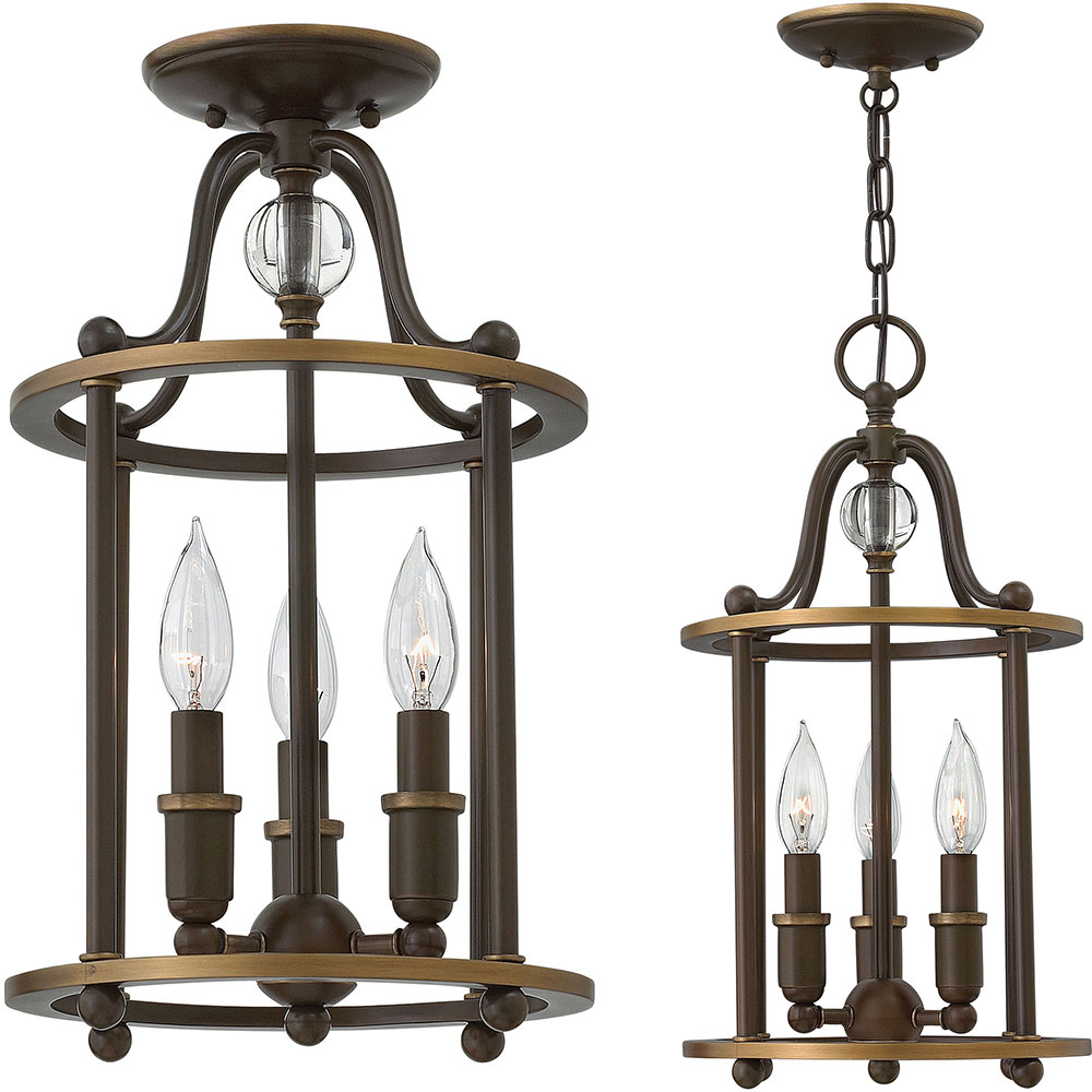Foyer Pendant Lighting Bronze : Hinkley lz elaine light oiled bronze foyer lighting