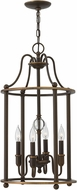 Hinkley 4354LZ Elaine Light Oiled Bronze Foyer Lighting Fixture