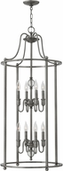 Hinkley 4358PL Elaine Polished Antique Nickel Foyer Light Fixture