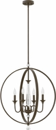 Hinkley 4604OZ Waverly Oil Rubbed Bronze 24  Foyer Lighting Fixture