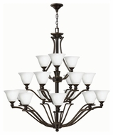 Hinkley 4659OB-OPAL Bolla Olde Bronze Finish 48.5  Tall Ceiling Chandelier