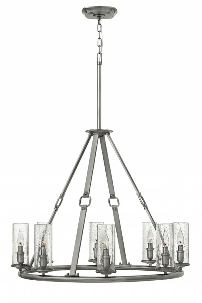 Hinkley 4788PL Dakota Polished Antique Nickel Chandelier Light. Loading zoom - Hinkley 4788PL Dakota Polished Antique Nickel Chandelier Light