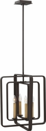 Hinkley 4814KZ Quentin Modern Buckeye Bronze Foyer Lighting Fixture