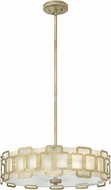 Hinkley 4914SL Sabina Modern Silver Leaf Drum Hanging Light