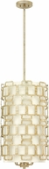 Hinkley 4916SL Sabina Modern Silver Leaf Entryway Light Fixture