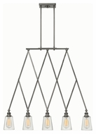 Hinkley 4935PL Gatsby Polished Antique Nickel Finish 36  Wide Kitchen Island Lighting
