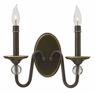 Hinkley 4952LZ Eleanor Light Oiled Bronze Sconce Lighting