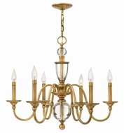 Hinkley 4956HB Eleanor Heritage Brass Chandelier Light