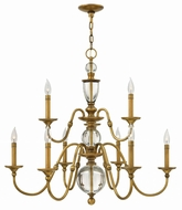 Hinkley 4958HB Eleanor Heritage Brass Lighting Chandelier