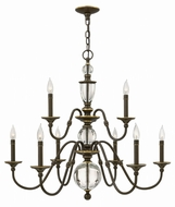 Hinkley 4958LZ Eleanor Light Oiled Bronze Chandelier Lamp