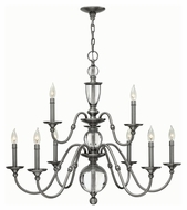 Hinkley 4958PL Eleanor Polished Antique Nickel Finish 31.25  Tall Lighting Chandelier