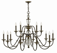 Hinkley 4959LZ Eleanor Light Oiled Bronze Ceiling Chandelier