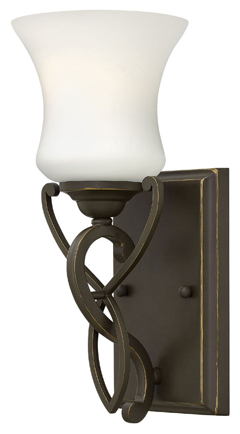 Hinkley 5000ob brooke traditional style olde bronze wall - Traditional bathroom wall sconces ...