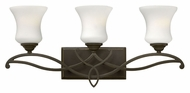 Hinkley 5003OB Brooke 24 Inch Wide 3 Lamp Vanity Light Fixture - Traditional