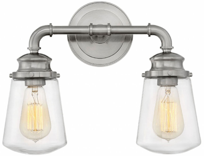 Hinkley 5032BN Fritz Contemporary Brushed Nickel 2 Light Bathroom Lighting.  Loading Zoom