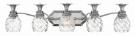 Hinkley 5315PL Plantation Traditional Polished Antique Nickel 5-Light Bathroom Lighting